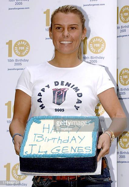 Coleen McLoughlin during Jeans for Genes 2005 Launch at Great Ormond Street in London Great Britain