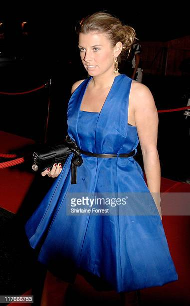 Coleen Mcloughlin fiancee of Wayne Rooney arrives for the Manchester United `United for UNICEF' Gala Dinner at Manchester United Football Club...