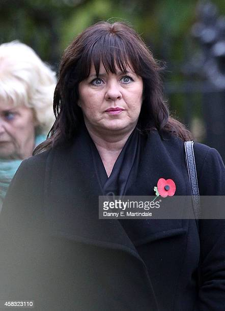 Coleen Nolan attends the funeral of Lynda Bellingham on November 3 2014 in Crewkerne England