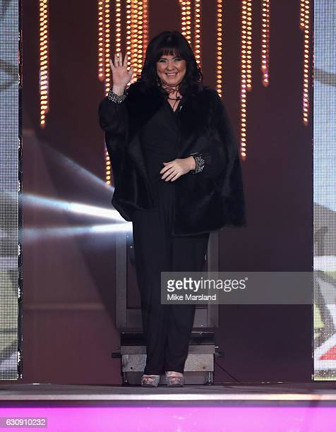 Coleen Nolan enters the Celebrity Big Brother House at Elstree Studios on January 3 2017 in Borehamwood England
