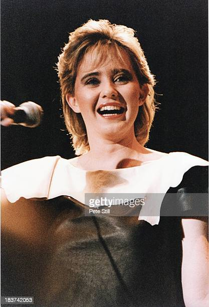 Coleen Nolan of The Nolans performs on stage at the Dominion Theatre on November 30th 1982 in London England