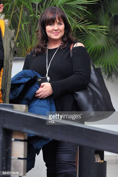 Coleen Nolan seen after presenting on the Loose Women show sighting on February 6 2017 in London England