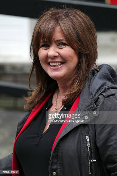 Coleen Nolan seen leaving the ITV Studios after an hosting 'Loose Women' on June 1 2016 in London England