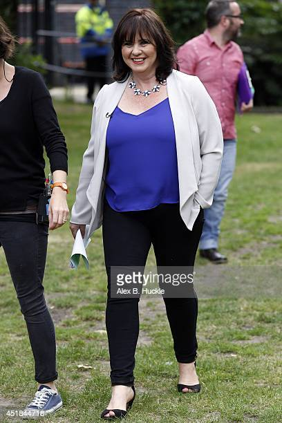 Coleen Nolan seen on The Southbank during filming 'Loose Women' on July 8 2014 in London England