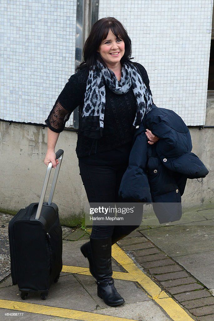 Coleen Nolan sighted leaving ITV Studios on January 20, 2014 in London, England.
