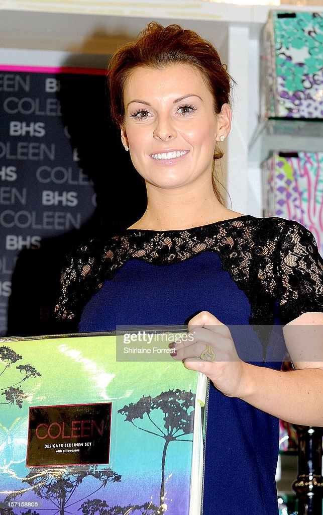 Coleen Rooney attends a photocall to launch her new range of bedding for BHS at The Trafford Centre on November 29, 2012 in Manchester, England.