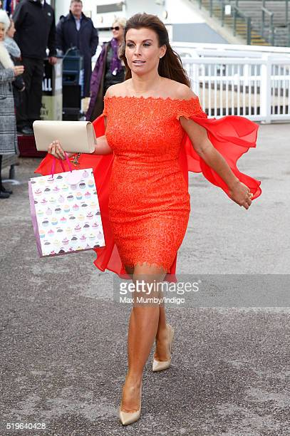 Coleen Rooney attends day 1 'Grand Opening Day' of the Crabbie's Grand National Festival at Aintree Racecourse on April 7 2016 in Liverpool England