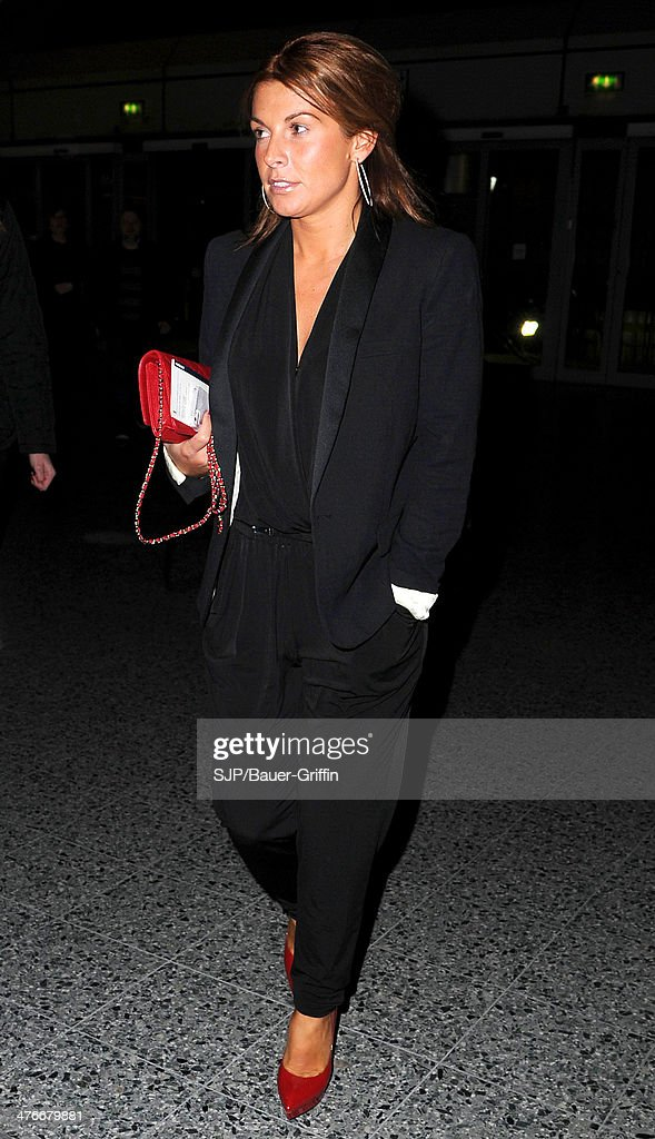 Coleen Rooney is seen on March 04, 2014 in Manchester, United Kingdom.