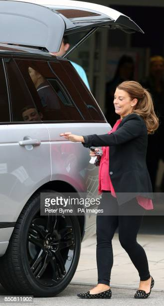 Coleen Rooney leaves Liverpool Women's Hospital after giving birth to Klay Anthony Rooney at 211am