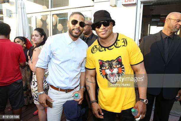 Coleman and LL COOL J attend A Toast To Summer Hosted By Simone I Smith at Aloft Hotel on July 19 2017 in New York City