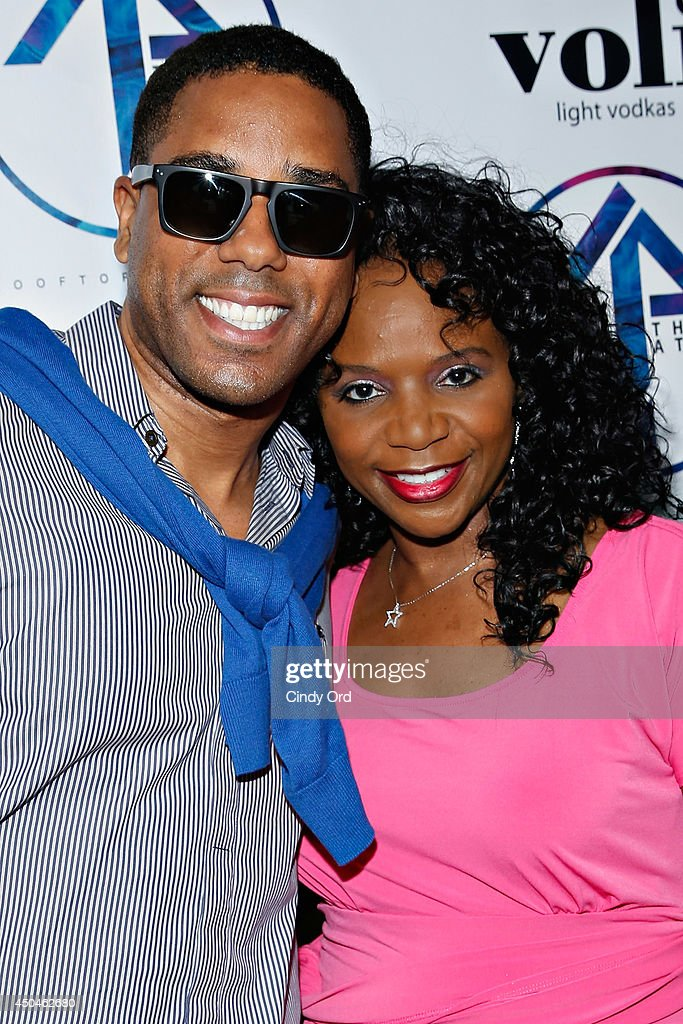 BJ Coleman and Marishka Phillips attend the grand opening of The Attic Rooftop Lounge on June 11, 2014 in New York City.