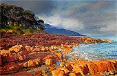 Coles Bay in Freycinet National Park, East coast of Tasmania