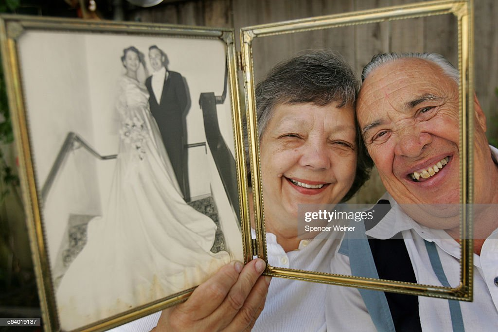 Colette and Ken Santucci left–right on their wedding day June 2 left and today Saturday June 3 the couple renewed their vows at the same church in...
