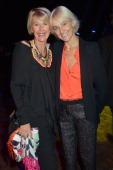 Colette Barbier from Ricard and Vanessa Bruno attend the 'Le Bal Jaune' After Dinner Hosted by Ricard As Part Of FIAC 2012 at Ile Seguin on October...
