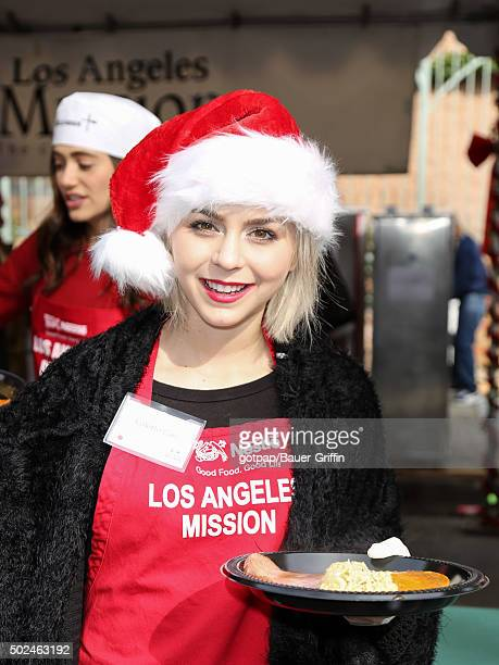 Colette Carr is seen at the annual Los Angeles Mission Christmas Dinner on December 24 2015 in Los Angeles California