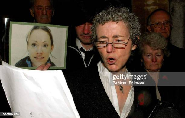 Colette Lynch's mother Helen Lynch reads a statement outside Brownsover Hall Hotel Rugby The young mother was stabbed and killed by her estranged...