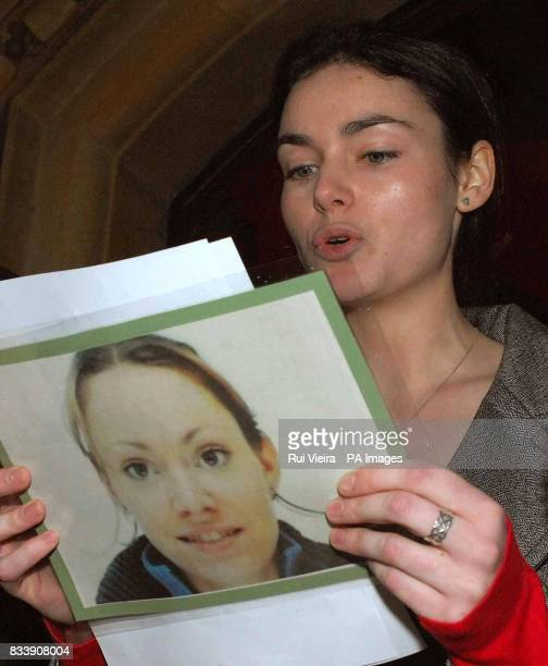 Colette Lynch's sister Patricia Lynch reads a statement outside Brownsover Hall Hotel Rugby The young mother was stabbed and killed by her estranged...
