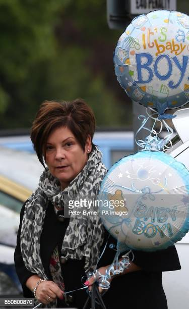 Colette Mcloughlin arrives at Liverpool Women's Hospital to visit Coleen who gave birth to Klay Anthony Rooney at 211am