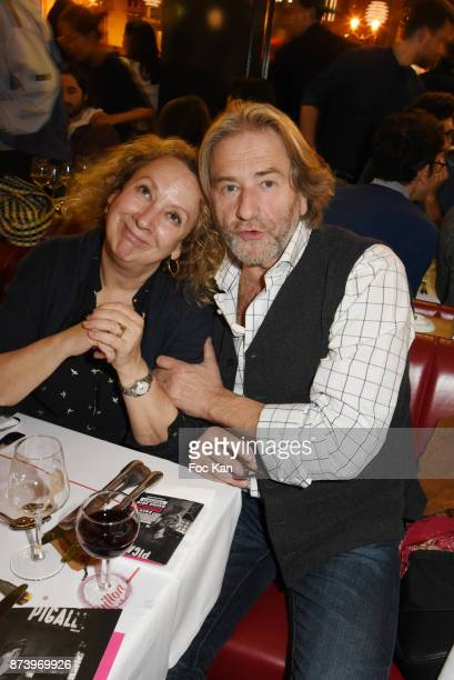 Colette Monsat and Chef Jean Luc Poujauran attend the Dinner at 'Le Bouillon' Restaurant as part 2 of 'Les Fooding 2018' Cocktail at Les Follies...