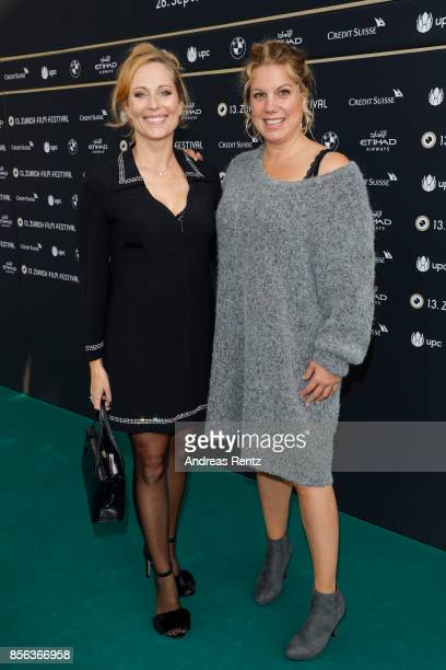 Colette Nussbaum and Isabella Schmid attend the 'Nur Gott kann mich richten' photocall during the 13th Zurich Film Festival on October 1 2017 in...