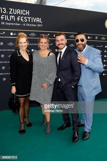 Colette Nussbaum Isabella Schmid Edin Hasanovic and Kida Khodr Ramadan attend the 'Nur Gott kann mich richten' photocall during the 13th Zurich Film...
