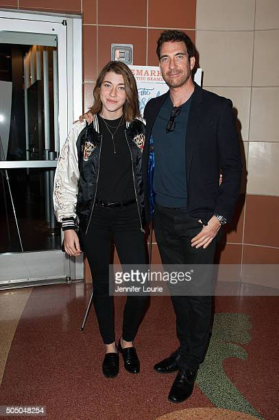 Colette Rose McDermott and Dylan McDermott arrive at the opening night of 'The Absolute Brightness of Leonard Pelkey' at the Kirk Douglas Theatre on...