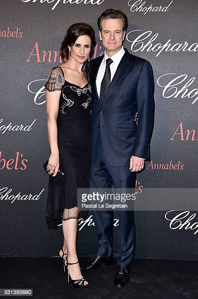 Colin and Livia Firth attend the Chopard Gent's Party at Annabel's in Cannes during the 69th Cannes Film Festival on May 14 2016 in Cannes France