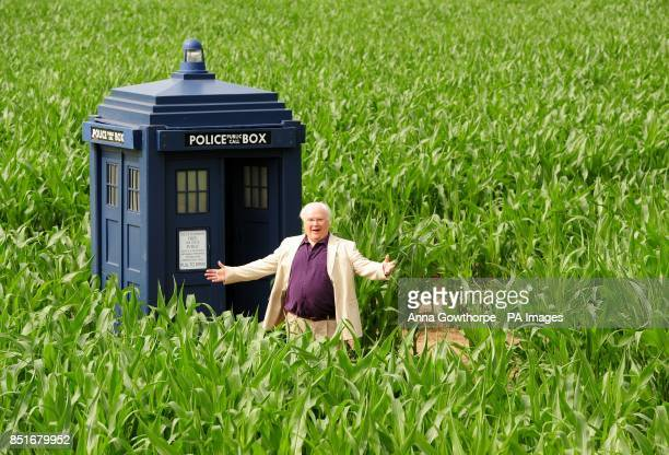 Colin Baker the sixth Doctor stands outside the Tardis during a photocall to launch the 2013 York Maze which this year celebrates 50 years of the...