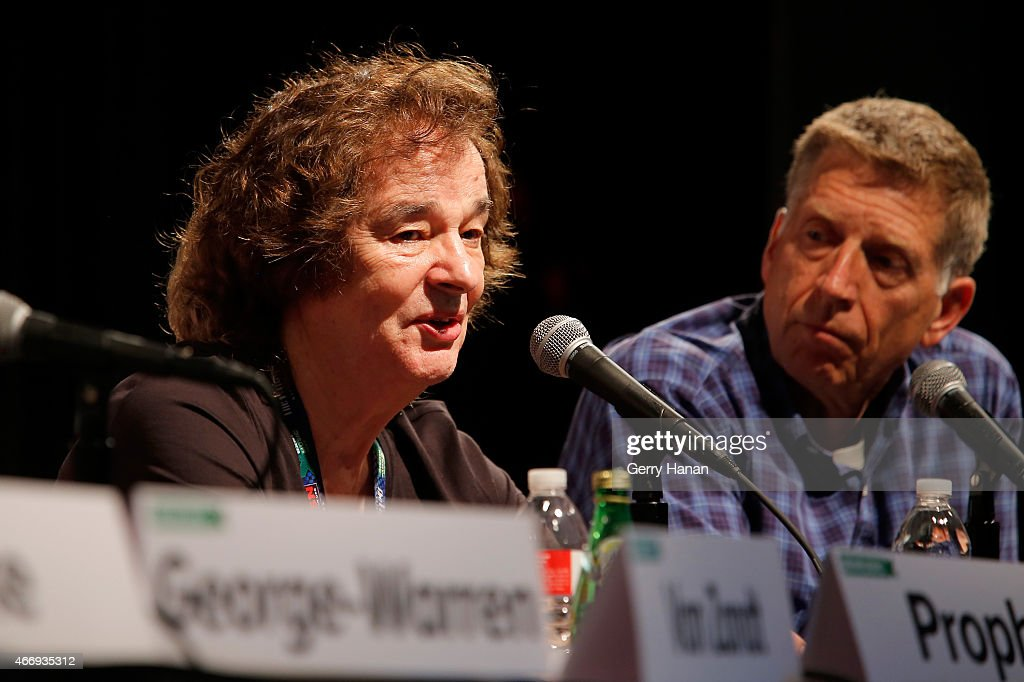 Colin Blunstone (L) and Bob Santelli speak onstage at 'The Who At 50' during the 2015 SXSW Music, Film + Interactive Festival at Austin Convention Center on March 19, 2015 in Austin, Texas.