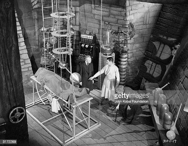 Colin Clive plays the driven doctor and Dwight Frye plays his deformed assistant Fritz in 'Frankenstein' directed by James Whale