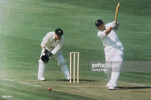 Colin Cowdrey batting in the 5th Test against Australia at the Oval