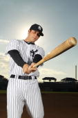 Colin Curtis of the New York Yankees poses for a photo during Spring Training Media Photo Day at George M Steinbrenner Field on February 25 2010 in...