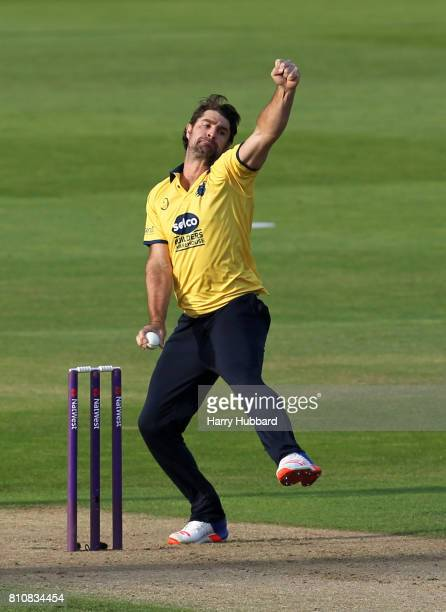Colin de Grandhomme of Birmingham Bears in action during the Natwest T20 Blast match between Birmingham Bears and Notts Outlaws at Edgbaston on July...