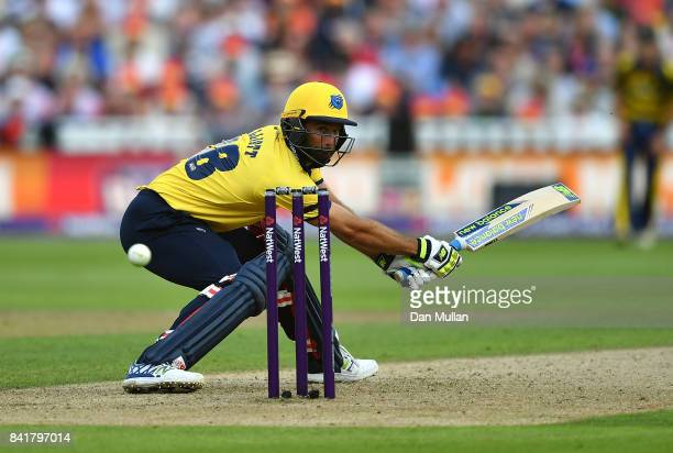 Colin de Grandhomme of Birmingham in action during the NatWest T20 Blast SemiFinal match between Birmingham Bears and Glamorgan at Edgbaston on...