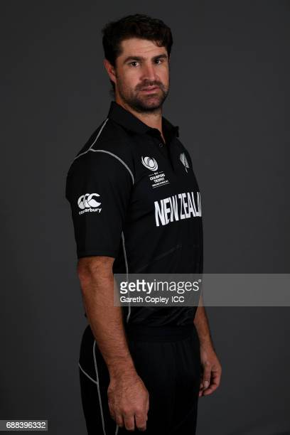 Colin de Grandhomme of New Zealand poses for a portrait at the team hotel on May 25 2017 in London England