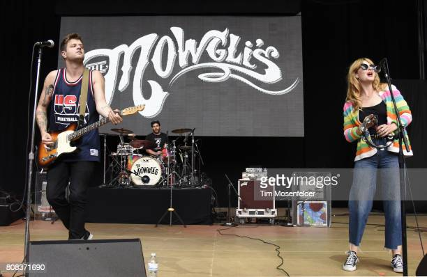 Colin Dieden and Katie Earl of The Mowgli's perform during the ID10T Festival at Shoreline Amphitheatre on June 24 2017 in Mountain View California