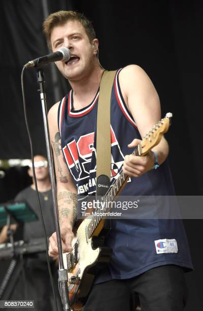Colin Dieden of The Mowgli's performs during the ID10T Festival at Shoreline Amphitheatre on June 24 2017 in Mountain View California