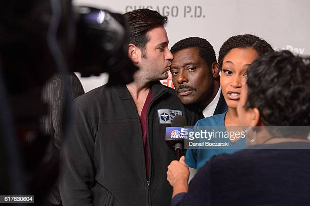 Colin Donnell Eamon Walker and Yaya DaCosta attend NBC's Chicago series press day on October 24 2016 in Chicago Illinois
