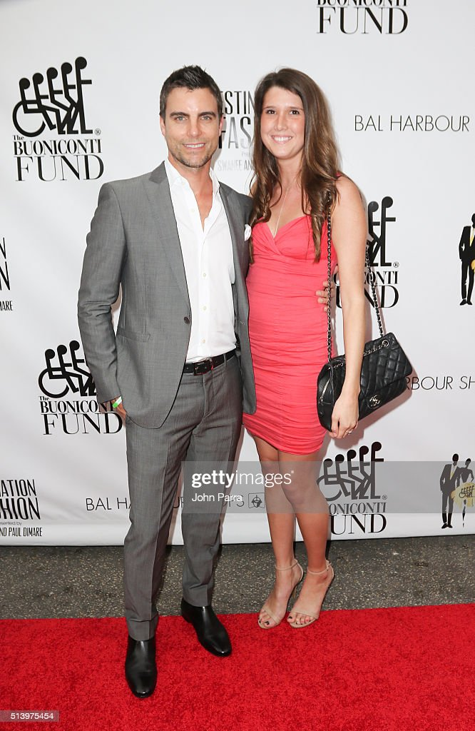 Colin Egglesfield and guest attend Destination Fashion 2016 to benefit The Buoniconti Fund to Cure Paralysis, the fundraising arm of The Miami Project to Cure Paralysis at Bal Harbour Shops on March 5, 2016 in Miami, Florida.