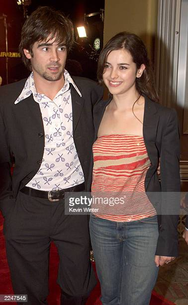 Colin Farrell and Amelia Warner at the premiere of 'Castaway' at the Village Theater in Los Angeles Ca 12/7/00