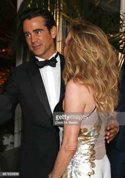 Colin Farrell and Caroline Scheufele Artistic Director and CoPresident of Chopard attend the Chopard and Annabel's Gentleman's Evening at the Hotel...