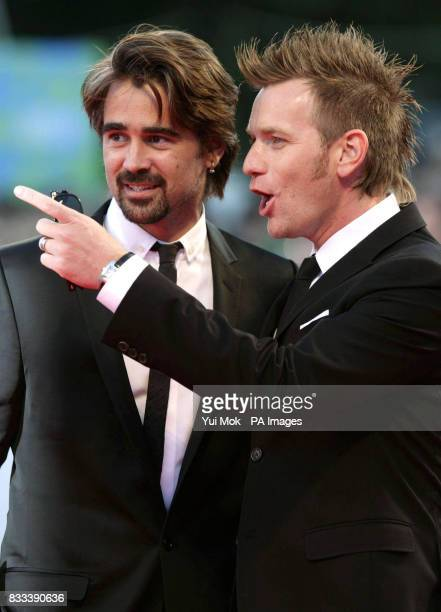 Colin Farrell and Ewan McGregor arrive for the premiere of 'Cassandra's Dream' during the Venice Film Festival in Italy