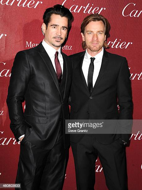Colin Farrell and Ewan McGregor arrives at the 25th Annual Palm Springs International Film Festival Awards Gala at Palm Springs Convention Center on...