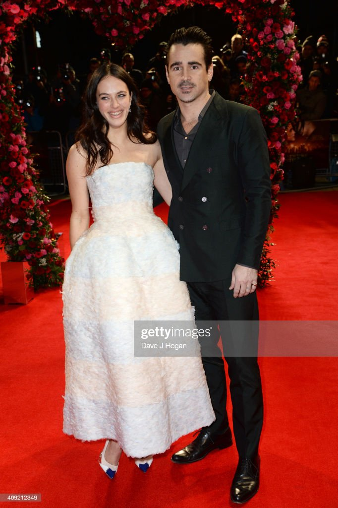 <a gi-track='captionPersonalityLinkClicked' href=/galleries/search?phrase=Colin+Farrell&family=editorial&specificpeople=202154 ng-click='$event.stopPropagation()'>Colin Farrell</a> and Jessica Brown Findlay attend the UK premiere of 'A New York Winter's Tale' at The Odeon Kensington on February 13, 2014 in London, England.