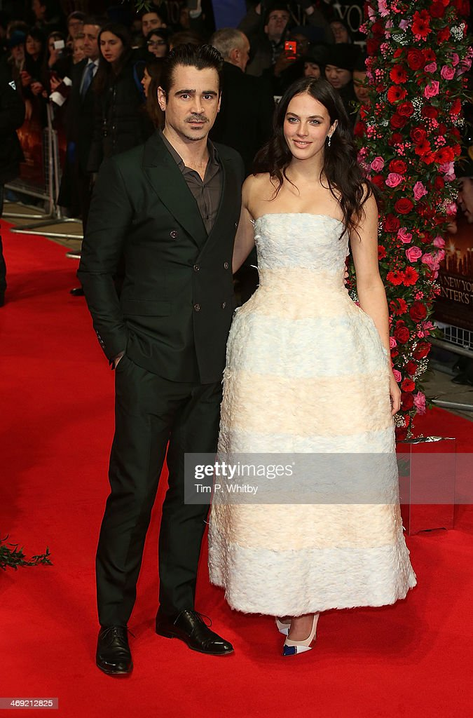 <a gi-track='captionPersonalityLinkClicked' href=/galleries/search?phrase=Colin+Farrell&family=editorial&specificpeople=202154 ng-click='$event.stopPropagation()'>Colin Farrell</a> and Jessica Brown Findlay attend the UK Premiere of 'New York Winter's Tale' at ODEON Kensington on February 13, 2014 in London, England.