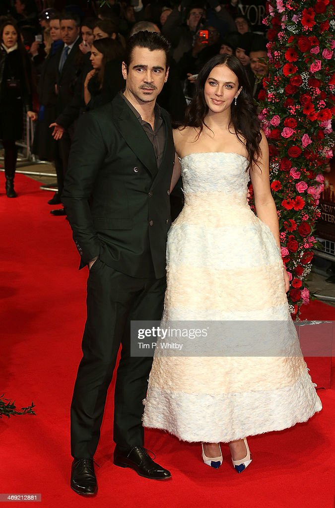 Colin Farrell and Jessica Brown Findlay attend the UK Premiere of 'New York Winter's Tale' at ODEON Kensington on February 13, 2014 in London, England.