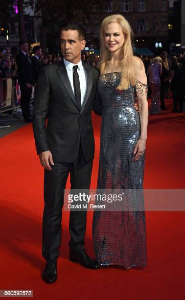 Colin Farrell and Nicole Kidman attend the Headline Gala Screening UK Premiere of 'Killing of a Sacred Deer' during the 61st BFI London Film Festival...