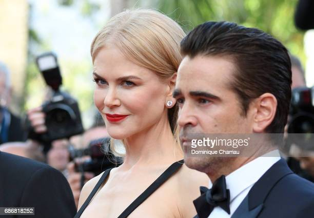 Colin Farrell and Nicole Kidman attend 'The Killing Of A Sacred Deer' premiere during the 70th annual Cannes Film Festival at Palais des Festivals on...