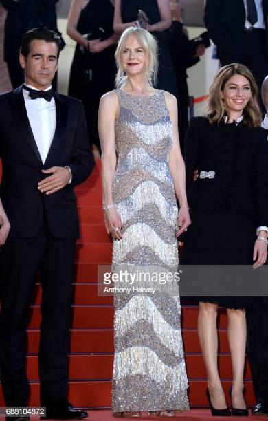Colin Farrell and Nicole Kidman attend the 'The Beguiled' screening during the 70th annual Cannes Film Festival at Palais des Festivals on May 24...