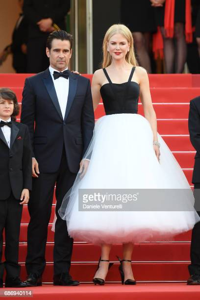 Colin Farrell and Nicole Kidman attend the 'The Killing Of A Sacred Deer' screening during the 70th annual Cannes Film Festival at Palais des...